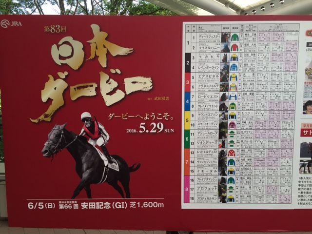 [観戦] 第83回日本ダービーの東京競馬場 1